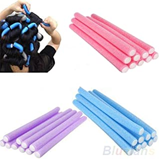 10 unidades de rodillos de espuma para rizador de pelo largo