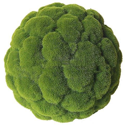 Kw-tool Bola Verde de la Hierba de la Planta de la simulación, Bola Artificial del Musgo de la Hierba, Bola Suave de la Flor del Techo de la decoración, para la decoración casera,50cm