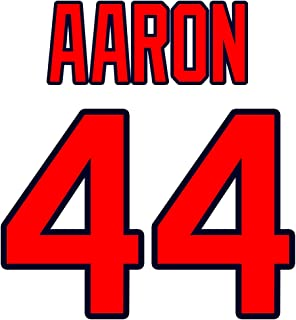 Hank Aaron Atlanta Braves Jersey Number Kit, Authentic Home Jersey Any Name or Number Available