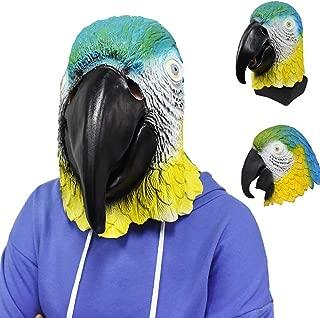 Latex Animal Parrot Bird Head Mask Multicoloured Fancy Dress Carnival Mask Halloween Adult Costume Accessory
