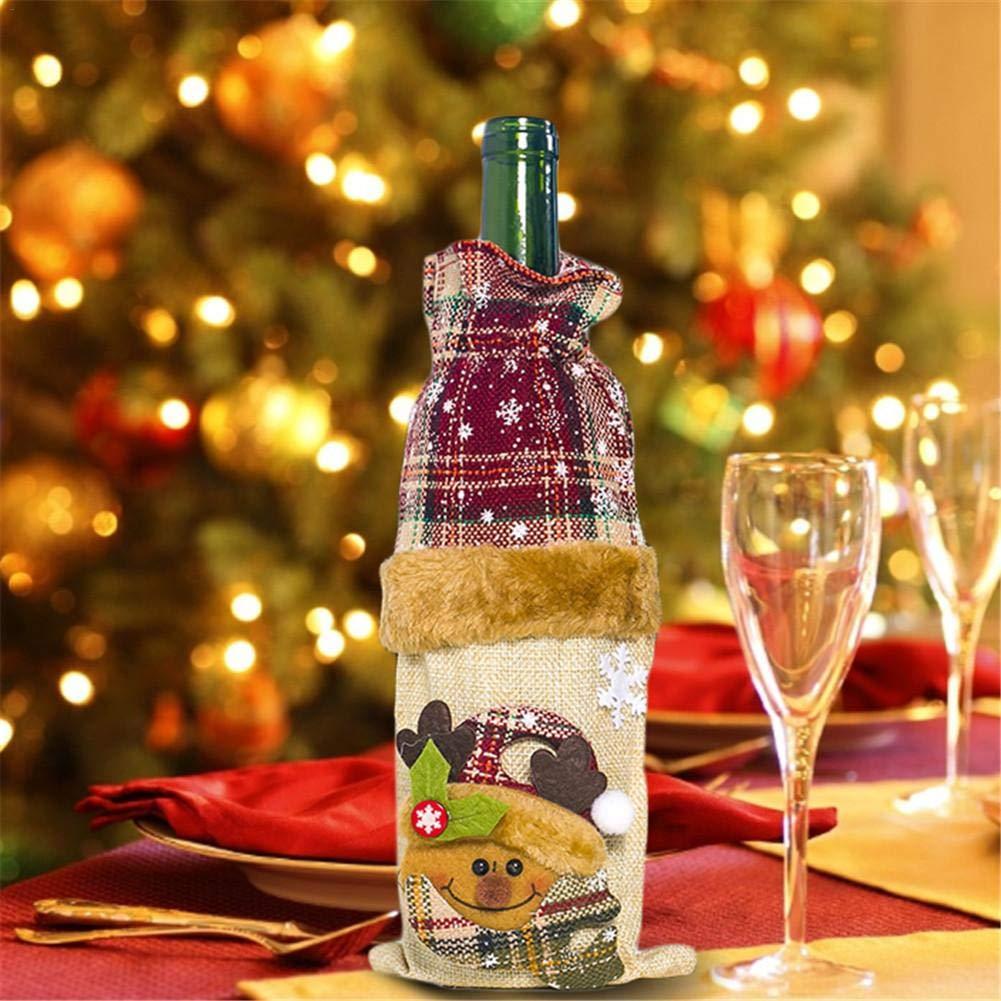 Bolsas para botellas de vino de Navidad Bolsas para envoltorios de ...