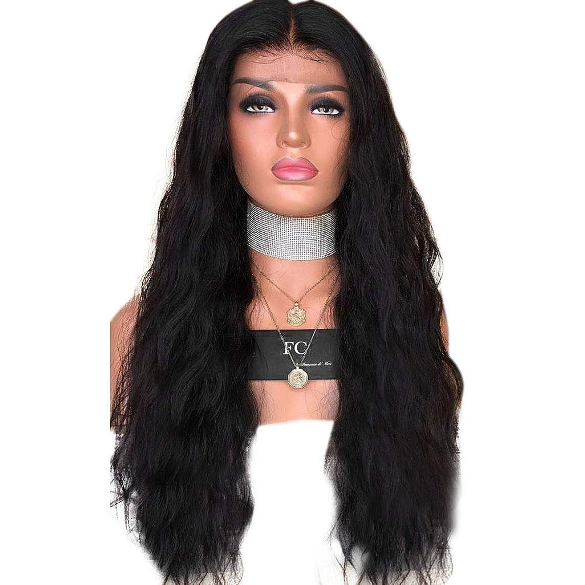 検索派生するスマートBOBIDYEE フロントレースウィッグ、女性のミドル丈前髪マイクロカーブロングカーリーウィッグ複合ヘアレースウィッグロールプレイングウィッグ (色 : Photo Color, サイズ : 18 inches)