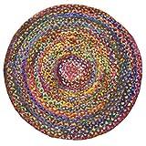 Chindi - Alfombra de algodón Reciclado para Comercio Justo, 90 x 90 cm