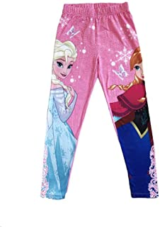 8f91333f97096 Disney Frozen Princess Elsa and Anna Full Length Leggings Tights Yoga Pants  for Girl Age Group