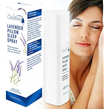 #1 HALL OF FAME RECOMMENDED - Ökostein Lavender Deep Sleep Aid Pillow Spray - Spray Mist with Natural Lavender & Plant Essential Oils for Calm Restful Night's Sleep, 75ml | 2.5 fl oz