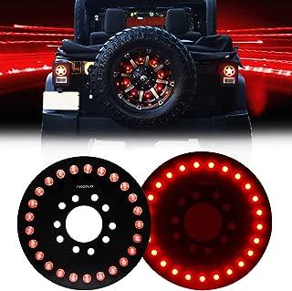 Wrangler 3rd Brake Light Red for Spare Tire, Jeep LED Brake Lights 25 LEDS Jeep Wrangler Spare Tire Brake Light