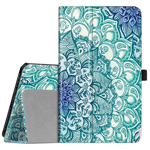FINTIE Folio Funda para Samsung Galaxy Tab A 8.0 2019 - [Protección de Esquina] Carcasa de Cuero Sintético con Función de Soporte para Modelo de SM-T290/T295, Esmeralda