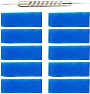 Balacoo 10pcs Watch Strap Loop with Watch Repair Pins Rubber Watch Holder Silicone Replacement Watch Strap 20mm (Dark Blue)