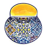 Hand-painted Portuguese Ceramic Olive Dish (Yellow)