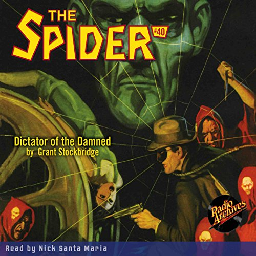 Spider #40, January 1937 audiobook cover art