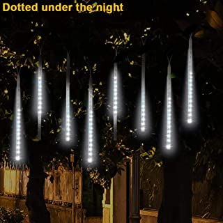 Tpingfe Meteor Lights, LED Meteor Shower Raindrop Snow Falling Lights Upgraded Dustproof Waterproof Xmas Tree