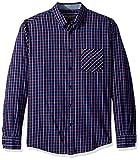 Ben Sherman Men's Check Flannel Shirt, Dark Navy, Large