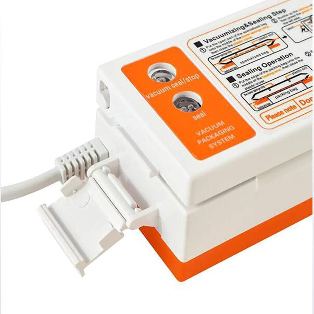 TTIK Machine sous Vide Automatique Multifonctionnel Machine De Scelleuse sous Vide Indicateur LED Intelligent pour La Cuisine Et La Conservation, 14.3X2.1X1.9In C