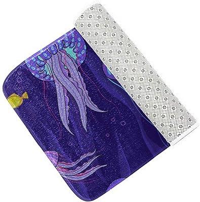 Zemivs Beautiful Water Creature Jellyfish - Alfombrillas para baño, Juego de alfombras de baño de 3 Piezas, Suaves, Alfombrillas para Contorno y tapete para Asiento, Tapa de Asiento de Inodoro, Alf