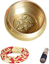HIZLJJ Tibetan Singing Bowl Seven Metals Healing Meditation Grade Professional Quality Hand Hammered (Size : 12.5cm)