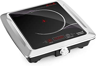 Techwood Hot Plate Electric Stove Single Burner Countertop Infrared Cooktop, 1500W, Timer and Touch Control, Portable compatible All Cookware Ceramic Glass