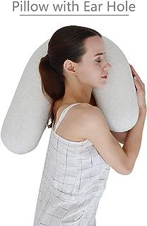 LightEase U Shape Snuggle Contour Side Sleeper Body Pillow w/Ear Hole