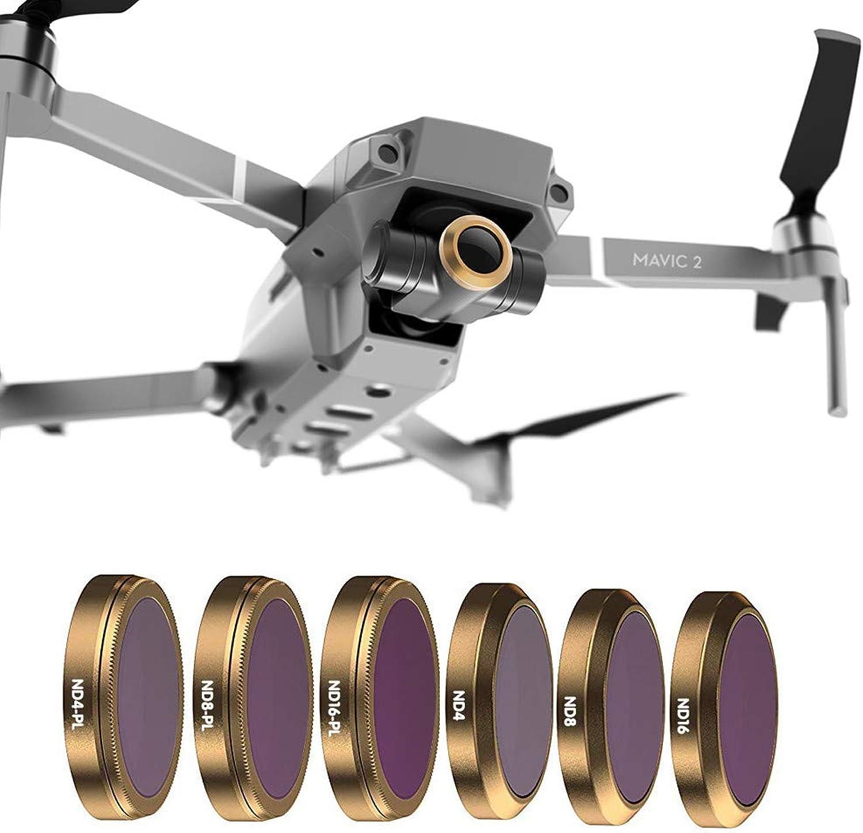 SingularPoint DJI Mavic 2 Accessory, For DJI Mavic 2 Zoom Drone ND4 ND8 ND16 ND32 ND64PL Camera Lens Filters