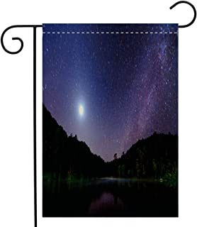 BEIVIVI Creative Home Garden Flag Star Night at Pang Ung Lake Mae Hong Son Province Thailand Garden Flag Waterproof for Party Holiday Home Garden Decor