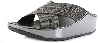 Fitflop Comfort Sandals For Women - Black & Grey, 6 UK, J55-526-6