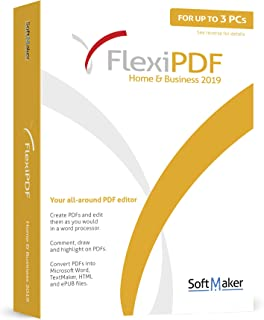 FlexiPDF Home & Business - 3 USER for your Windows 10, 8.1, 7 PC - the ultimate PDF editor software by SoftMaker