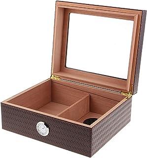 sharprepublic 1 Pieza De Madera Portátil De Cigarros Travel Humidor Box Cigar Case - marrón, Individual