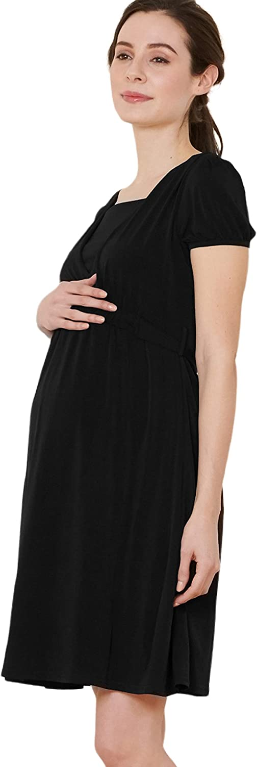 Sweet Mommy Maternity and Nursing Simple Formal Dress Short and Three Quarter Sleeve