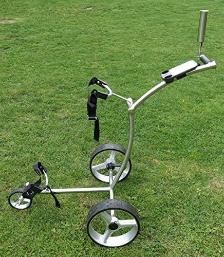 Yorrx® Slim Lion 4S Pro Golftrolley (Edelstahl/Stainless Steel) -TOPSET Vollaustattung