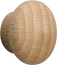 Metafranc Meubelknop Ø 30 mm - beuken - onbehandeld - hoogwaardige afwerking - mooi vormgegeven & decoratief - incl. monta...