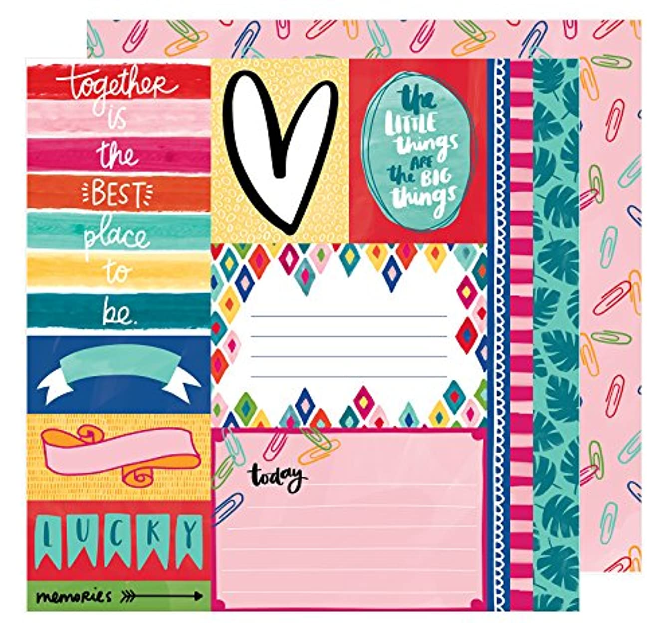 American Crafts Amy Tan Hustle & Heart 25 Pack of 12x12 Inch Paper The Little Things, Piece
