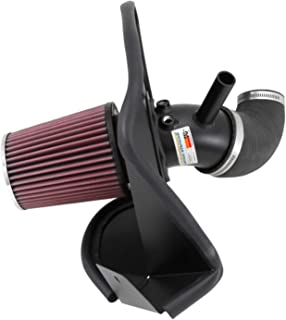 K&N Cold Air Intake Kit with Washable Air Filter: 2013-2014 Hyundai Genesis Coupe, 2.0L L4, Black Metal Finish with Red Oiled Filter, 69-5311TTK