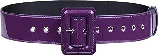 Moonsix Waist Belt for Women, Patent Leather Hole Grommet Buckle Casual dress belt