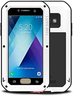 Galaxy S5 Water Resistant Case, X-FASH Heavy Duty Full-body Shock/Snow/Dust Proof Aluminum Metal Rugged Tough Bumper Cover with Gorillas Glass Screen Protector for Samsung Galaxy S5 (White)