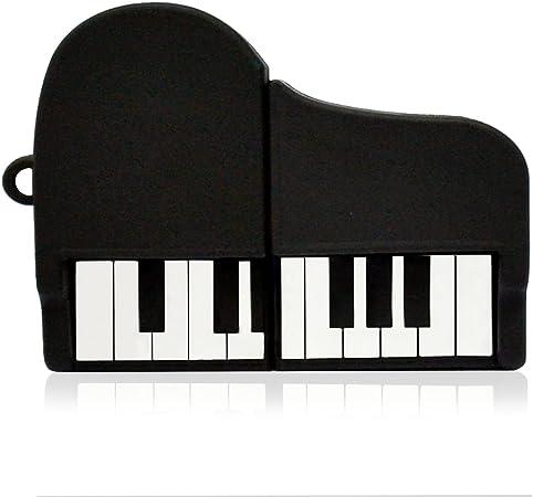 NR33200030016 Hi-SPEED MEMORIA USB PENDRIVE 16GB FLASH INSTRUMENTOS MUSICALES PIANO NEGRO DIVERTIDA