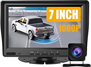 $47 » 7 inch Vehicle Backup Camera and Monitor Kit,HD 1080P Rear View Camera Monitor,Back Up Camera for Car,Truck,Pickup Truck,S...