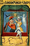 "WONDERFULITEMS PUPPET THEATER LONDON PUNCH AND JUDY MARIONETTE DOLLS 12"" X 16"" IMAGE SIZE VINTAGE POSTER REPRO"