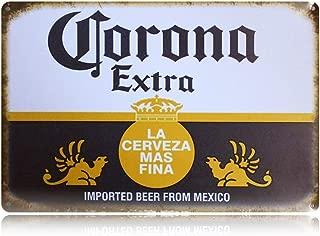 PEI's Retro Vintage Tin Sign, Corona Beer from Mexico, Home Bar Man Cave Decor, 8
