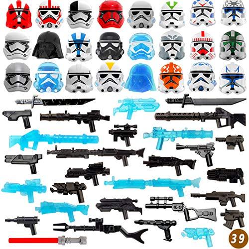 Leic 52Pcs Armatura Set di armi Sci-fi style Building Block Figure Weapon Armor Kit SWAT Team Figure Helmet Compatibile con Lego