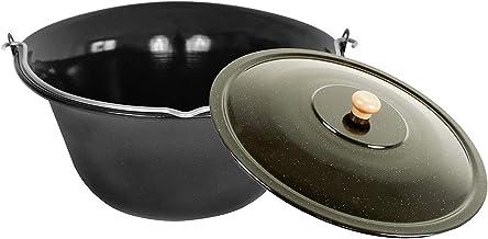 Grillplanet Set 15 Liter Gulaschkessel Gulaschtopf Emaille Deckel für Kesselgulasch