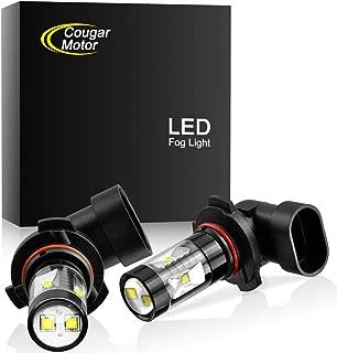 Cougar Motor 9006 LED Fog Light/DRL Bulbs - CREE 30W 5000K Bright White (Pack of two bulbs)