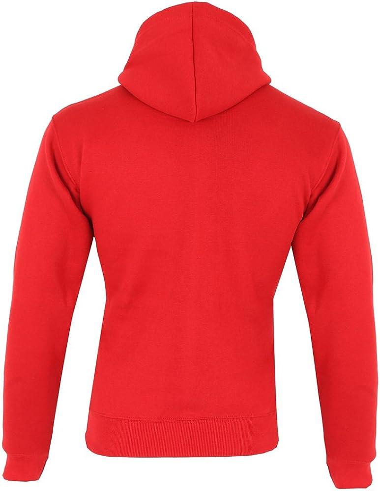 Men/'s Plain Full Zip Embroided Hoodie Fleece Casual Gym Adult Top Sweatshirt