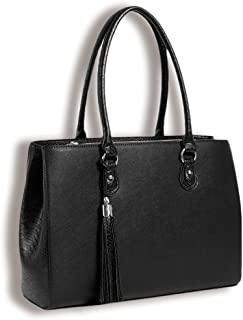 BFB Laptop Tote and Tablet Bag – Lightweight Handmade Designer Work Tote and Laptop Shoulder Bag – This Versatile, Classic Business Bag Will Quickly Become Your Best Friend - Black