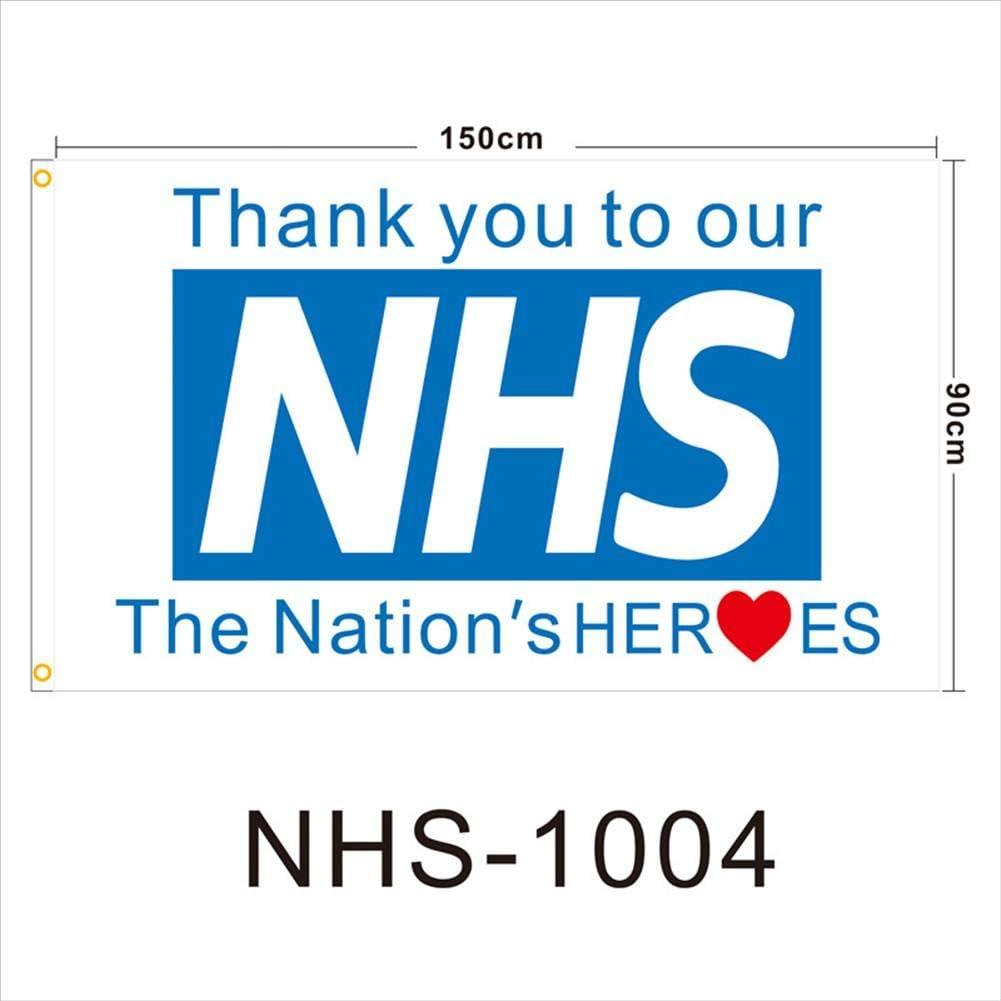 Thank You NHS Support Banner British UK Flag Health Nurse Doctor Hero Rainbow