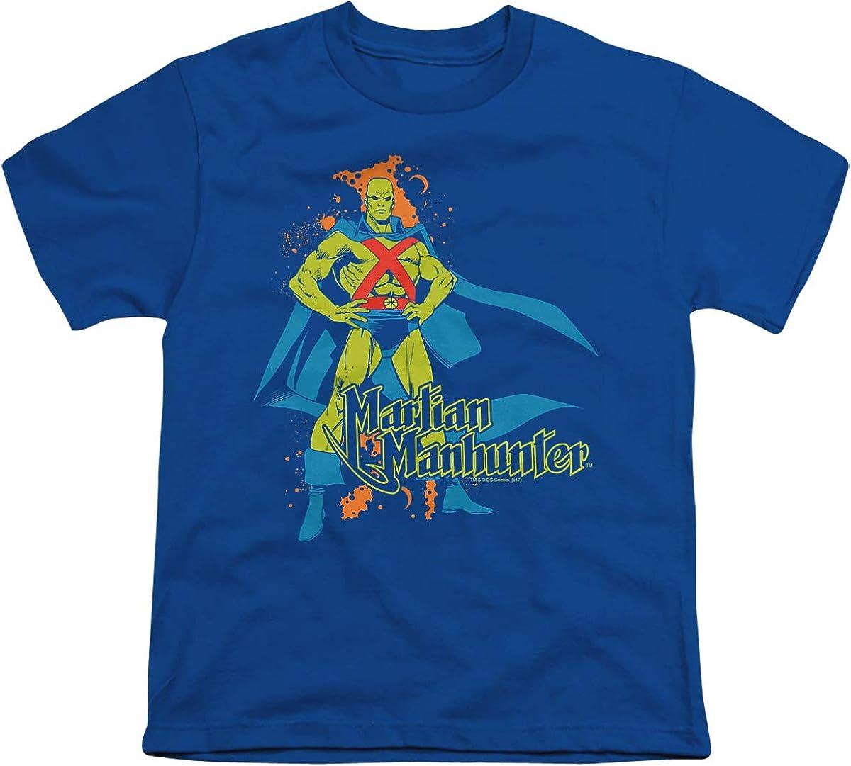 DC Martian Manhunter Unisex Youth T Shirt, Royal, X-Large