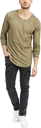 trueprodigy Casual Mens Clothes Funny and Cool Designer Long Sleeve T-Shirt for Men Plain V-Neck Slim Fit Long Sleeve Sale