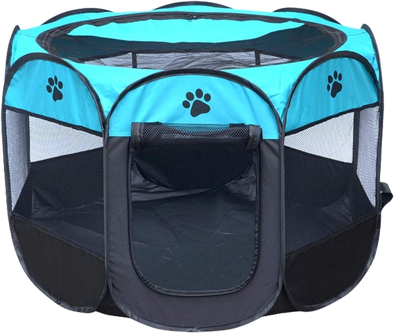 Il tuo unico fratello Pet  ful Beautiful Fashion Comfortable Fashion Oxford Cloth Waterclose Dog Tent Foldegable Octagnal Outdoor Pet Fence, S, Dimensione: 73 x 73 x 43cm Convenence (Colore: Blue)