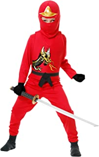 Charades Ninja Avenger Series II Child's Costume, Red, X-Small