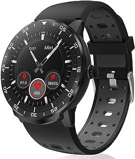 Smartwatch Reloj Inteligente, HopoFit HF06 Pantalla Táctil Completa Circular Impermeable Podómetro Pulsómetros, Monitor de...