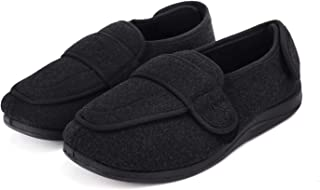 Clobeau Mens Diabetic Slippers Memory Foam Arthritis Edema Swollen House Shoes Slippers