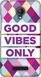 Micromax Canvas Spark Q380 Case, Premium Handcrafted Designer Hard Shell Snap On Case Shockproof Printed Back Cover for Micromax Canvas Spark Q380 - Good Vibes Only